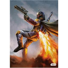 Star Wars: Episode IV Boba Fett Metal Væg Deko