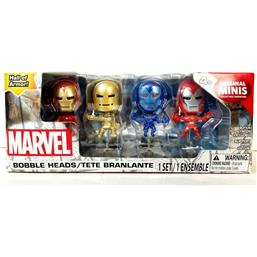 Iron Man Hall Of Armor Mini Bobbleheads 4-Pak SDCC 2016 Exclusive Sæt A