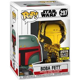 Boba Fett Gold 2019 Galactic Convention Exclusive POP! Movies Vinyl Figur (#297)
