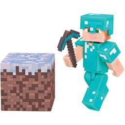 Minecraft: Alex i Diamond Armor Action Figur