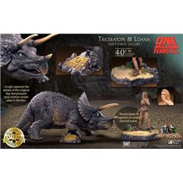 One Million Years B.C.: Triceratops & Loana Soft Vinyl Statues