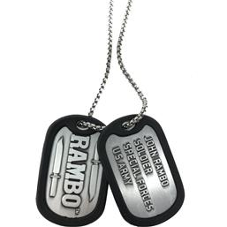 Rambo / First Blood: Rambo Dog Tags with ball chain Logo