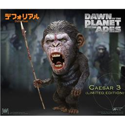 Planet of the Apes: Caesar Warrior Face Deform Real Series Soft Vinyl Statue 15 cm
