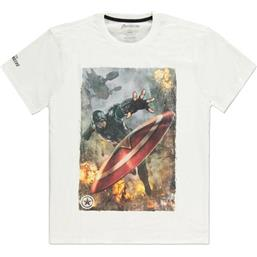 Captain America Throwing Shield T-Shirt