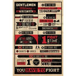Fight Club Infographic Plakat