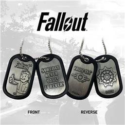 Fallout: Fallout Logo Dog Tags with ball chain