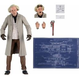 Ultimate Doc Brown Action Figure 18 cm
