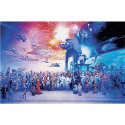 Star Wars: Complete Cast Art plakat