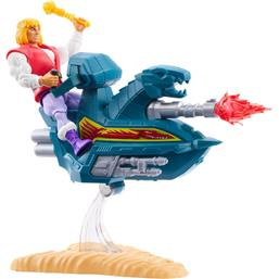 Prince Adam with Sky Sled Origins Action Figure 14 cm