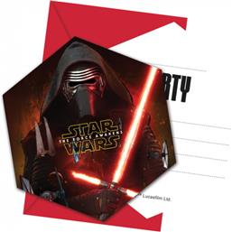 Star Wars The Force Awakens Invitationer 6 styk