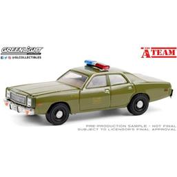 A-Team: Plymouth Fury U.S. Army Police 1977 Diecast Model 1/64