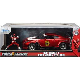 Power Rangers: Nissan GT-R R35 2009 Diecast Model 1/24 med Red Ranger