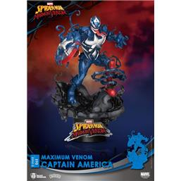 Marvel: Maximum Venom Captain America D-Stage Diorama 16 cm