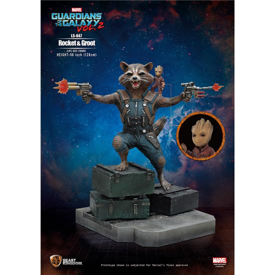 Guardians of the Galaxy: Rocket og Groot Life-Size Statue