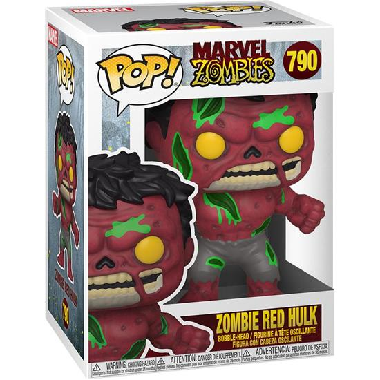 Marvel: Zombie Red Hulk POP! Marvel Vinyl Figur (#790)