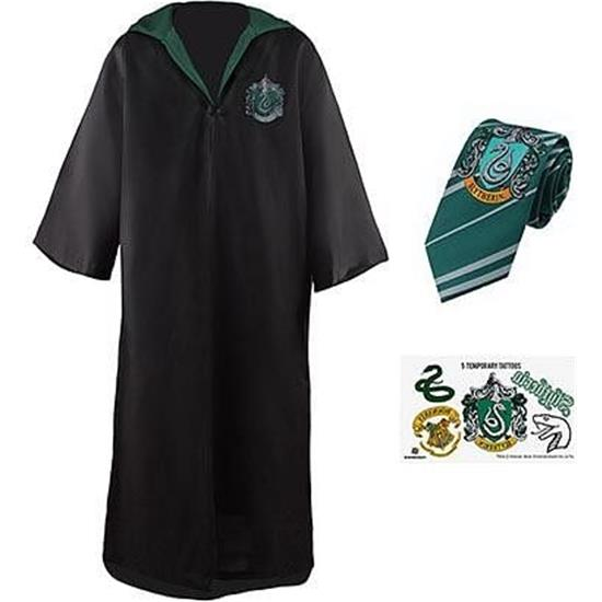 Harry Potter: Slytherin Kostumesæt med Slips og Tatoveringer