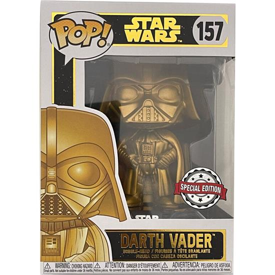 Star Wars: Darth Vader Gold Metallic POP! Movies Vinyl Figur (#157)