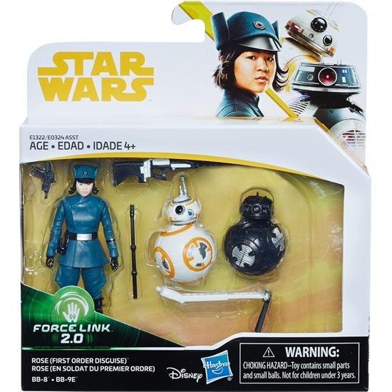 Star Wars: Rose (First Order Disguise) & BB-8 & BB-9E (Episode VIII) - Force Link 2.0 Action Figur 2-Pak