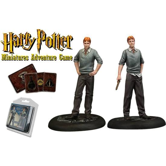 Harry Potter: Harry Potter Miniatures 35 mm 2-pack Fred & George Weasley
