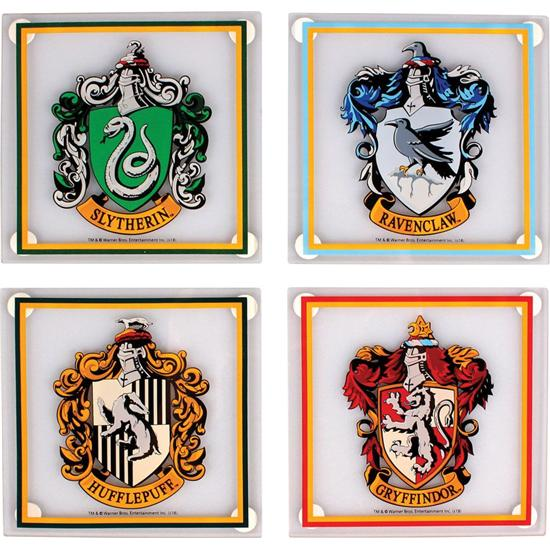 Harry Potter: Harry Potter Glass Coaster 4-Pack All Houses