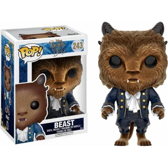Disney: Udyret (Beast) Flocked POP! Disney Vinyl Figur (#243)