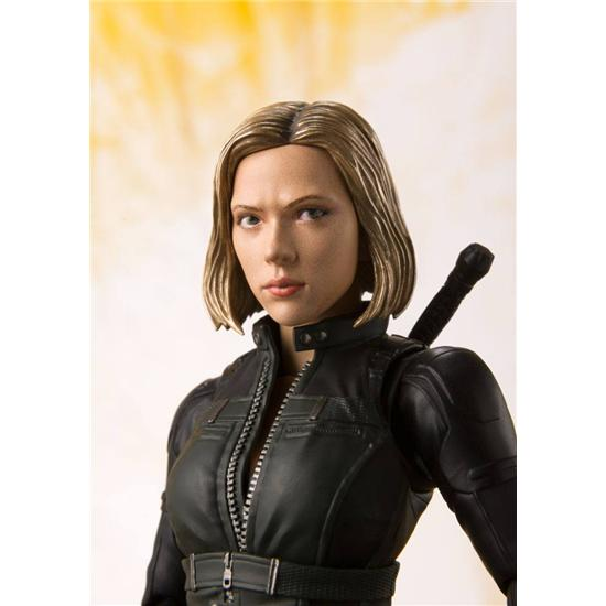 Avengers: Avengers Infinity War S.H. Figuarts Action Figure Black Widow & Tamashii Effect Explosion 15 cm