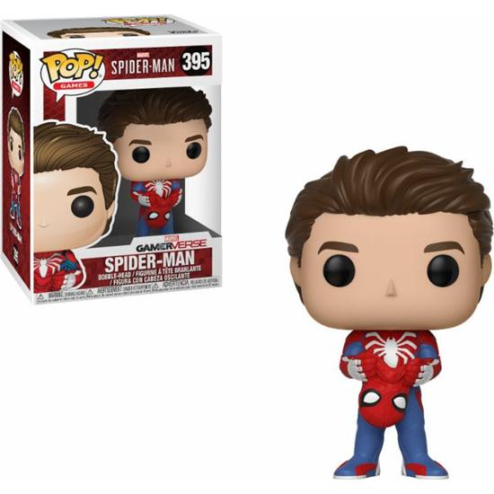 Spider-Man: Unmasked Spider-Man POP! Games Vinyl Figur (#395)