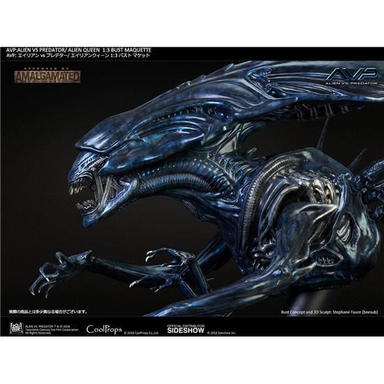 Alien vs. Predator: Aliens vs Predator Bust Maquette 1/3 Alien Queen 70 cm