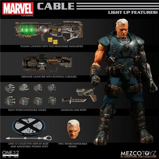 Marvel: Marvel Universe Light-Up Action Figure 1/12 Cable 17 cm