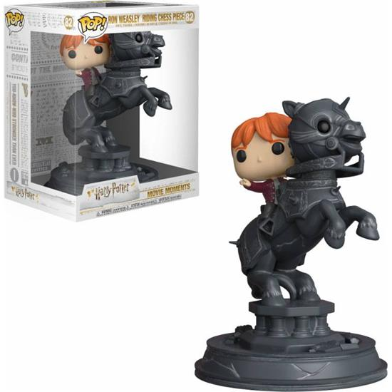 Harry Potter: Ron Riding Chess Piece POP! Movie Moments Vinyl Figur (#82)