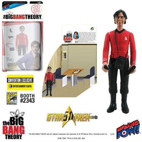 Big Bang Theory: The Big Bang Theory Action Figures with Diorama Set Raj TOS EE Exclusive 10 cm