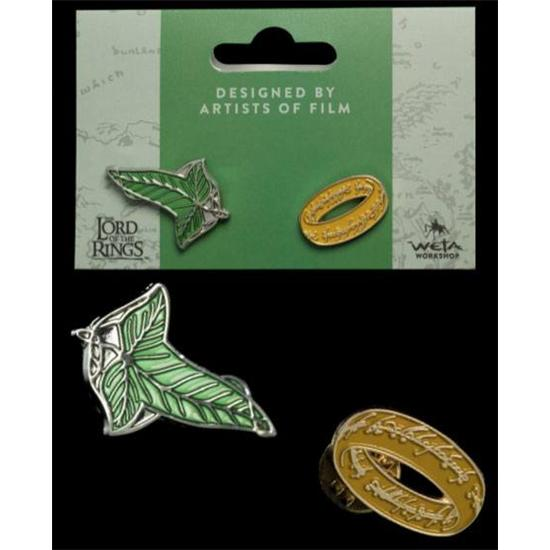 Lord Of The Rings: Elfen Leaf & One Ring Collectors Pins 2-Pack