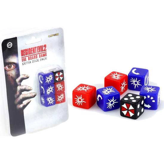 Resident Evil: Resident Evil 2 The Board Game Extra Dice Set 6-Pack
