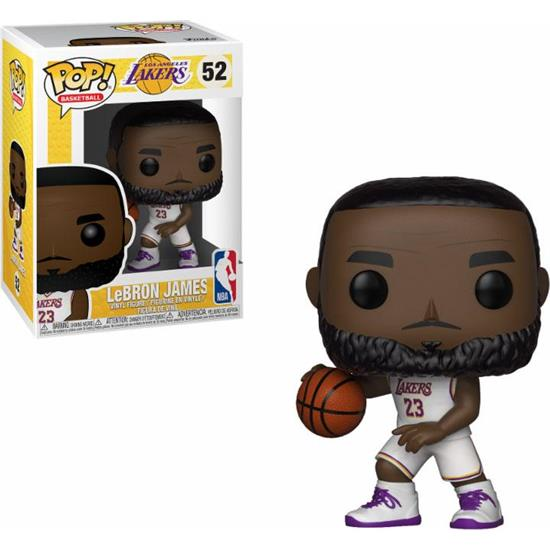 NBA: LeBron James White Uniform POP! Sports Vinyl Figur (#52)