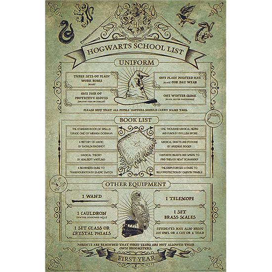 Harry Potter: Hogwarts School List Plakat - Husregler