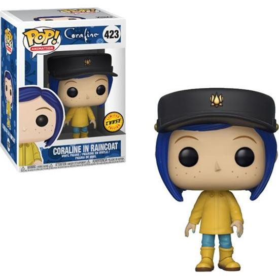 Coraline: Coraline in Raincoat POP! Movies Vinyl Figur (#423) CHASE