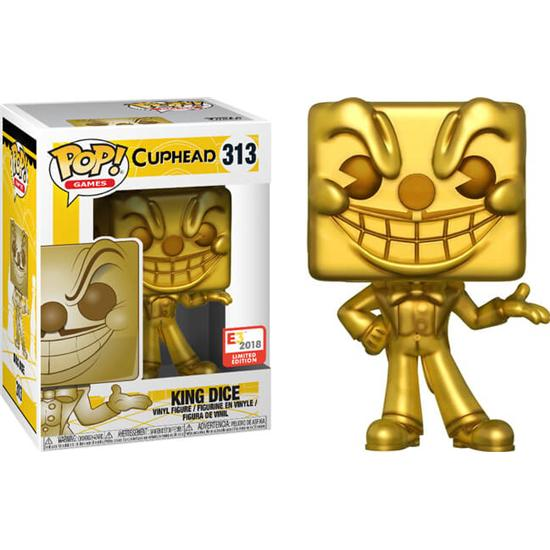 Cuphead: King Dice (GOLD) POP! Games Vinyl Figur (#313)