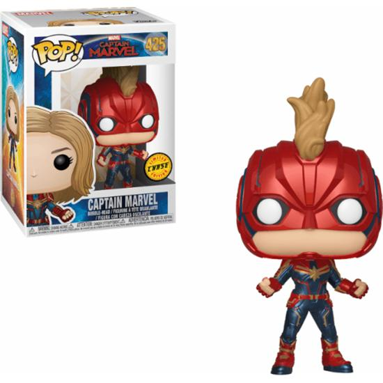 Captain Marvel: Captain Marvel POP! Marvel Vinyl Bobble-Head Figur (#428) CHASE