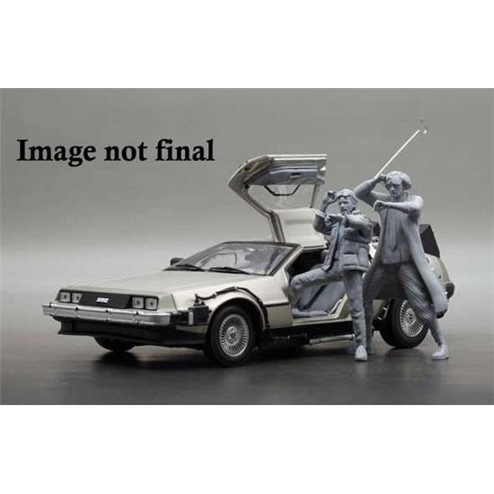 Back To The Future: Back to the Future II Diecast Model 1/18 1983 DeLorean with Dr. Emmett Brown Figure
