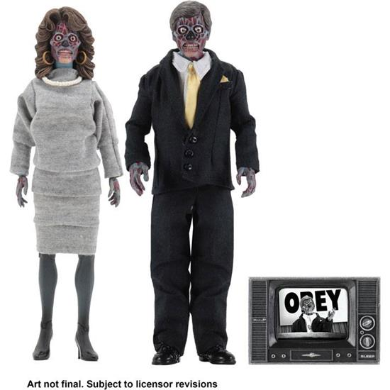 They Live: They Live Retro Action Figure 2-Pack Aliens 20 cm