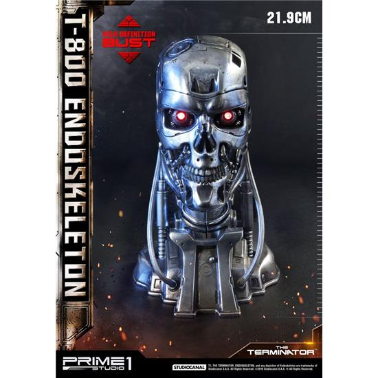 Terminator: The Terminator High Definition Bust 1/2 T-800 Endoskeleton Head 22 cm