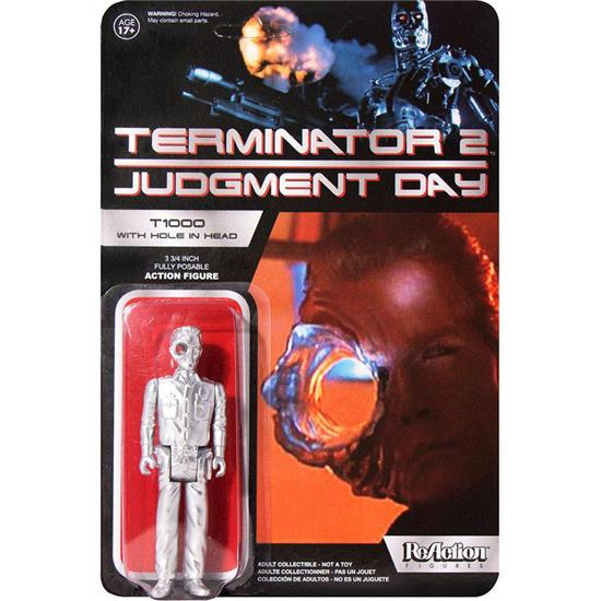 Terminator: Terminator 2 ReAction Action Figure T1000 Officer with Hole In The Head Super7 Exclusive 10 cm