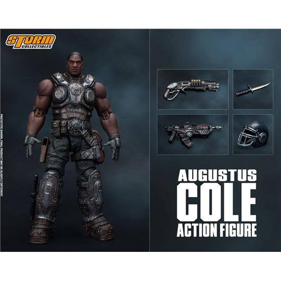 Gears Of War: Gears of War 5 Action Figure 1/12 Augustus Cole 16 cm