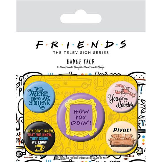 Friends: Friends Quotes Badges 5-Pak