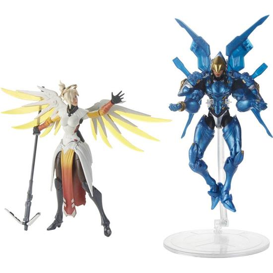 Overwatch: Mercy and Pharah Ultimates Action Figures 15 cm