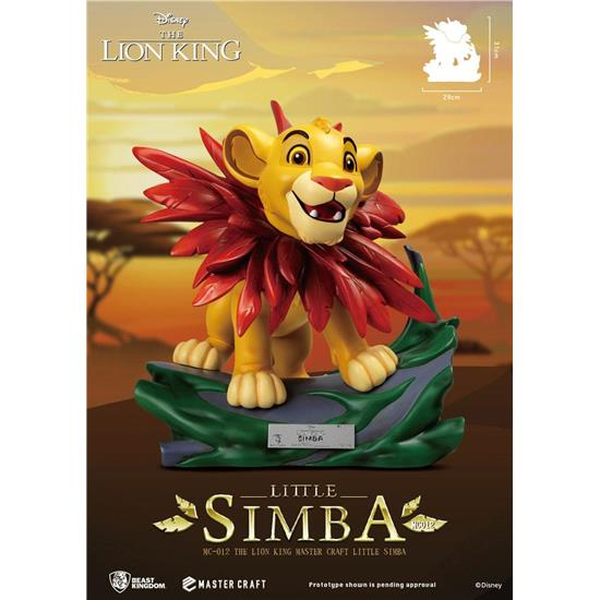Tidsmæssigt Løvernes Konge: Little Simba Master Craft Statue 31 cm HD-94