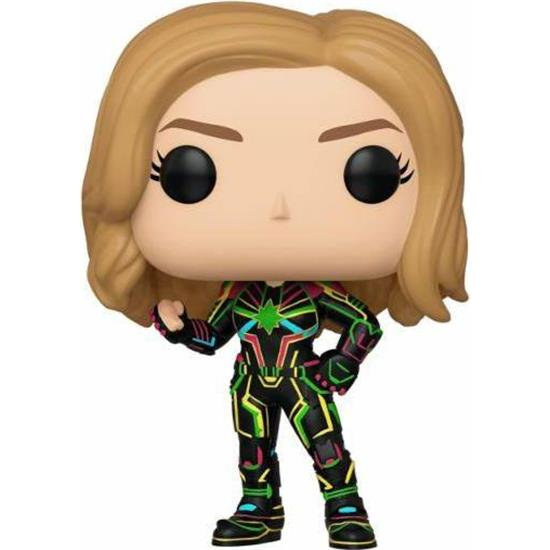 Captain Marvel: Captain Marvel w/Neon Suit POP! Marvel Vinyl Bobble-Head Figur