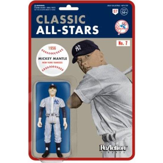 MLB - Baseball: Mickey Mantle (New York Yankees) ReAction Action Figure 10 cm