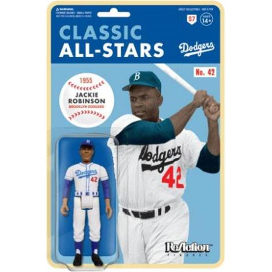 MLB - Baseball: Jackie Robinson (Brooklyn Dodgers) ReAction Action Figure 10 cm