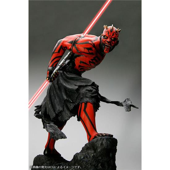 Star Wars: Darth Maul Japanese Ukiyo-E Style Light-Up Edition ARTFX PVC Statue 1/7 28 cm